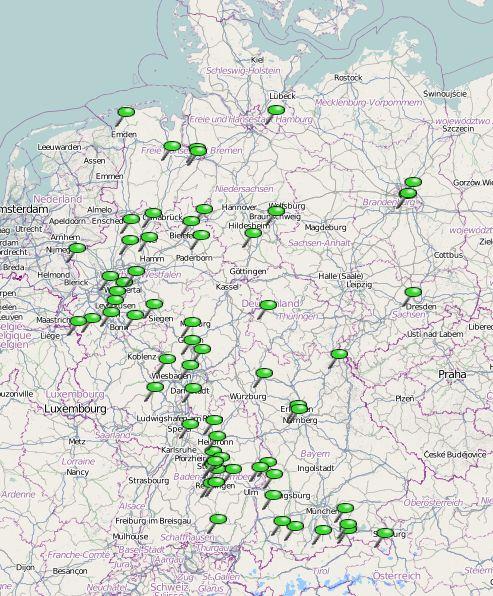 Karte der entia-Werkstätten