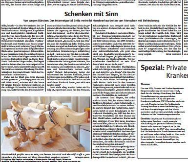 Die Suedeutsche bericht ausführlich über entia
